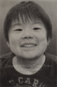 Original drawing by Teresa Bolen commissioned portrait